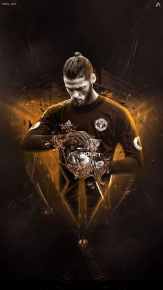 De Gea Soccer Art, Soccer Poster, Football Design, Football Boys, Manchester United Wallpapers Iphone, Football Celebrations, Old Trafford, Manchester United Players, Football Wallpaper