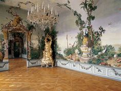 the Goess Apartment (5) in the Schonbrunn Palace, Vienna, Austria.  Summer apartment for the Empress Maria Theresa, mother of Maria Antoinette.