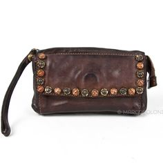 Studded Leather Wallet/Phone Case Wristlet by #Campomaggi, FLORA | #Marcopoloni