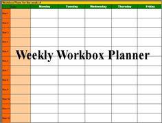 Workbox Planner! Download @ http://www.christianhomeschoolhub.spruz.com/teaching-methods---lapbooking-notebooking-etc.htm #homeschool #teach #classroom