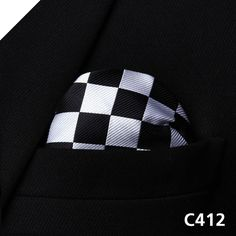 Stripe Check Geometric Men Silk Pocket Square Hanky Wedding Handkerchief #C4 Pocket Square Classic Party Wedding