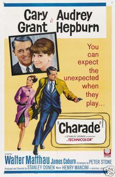 Charade Audrey Hepburn Vintage Movie Poster Print | eBay Old Movie Posters, Classic Movie Posters, Classic Films, Cinema Posters, Film Posters, Charade Movie, Charade 1963, Walter Matthau, Henry Mancini