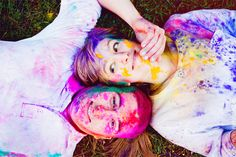 Such a creative idea for an engagement shoot. Thowing colored powder at each other. You can tell these two are a fun couple. @Dominic DeStefano, could be a fun couple pic, instead of engagement