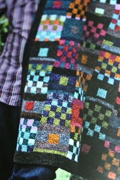 Technically, Kaffe Fassett knits aren't one of a kind but even pieces made from his kits will take on the individual spirit/gauge/knitting style of the knitter. Knitting Designs, Knitting Projects, Knitting Patterns, Fair Isle Knitting, Hand Knitting, Yarn Bombing, Knit Picks, Knitted Blankets, Needlepoint
