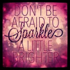 Never let negativity dull your sparkle !!