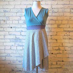 9affd5f5226 Ticking Wrap Dress - Mid Length Noelle Dress. Yana Dee ...