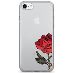 Rose iPhone Case Floral iPhone 7 Case Roses iPhone 6 Case Cute iPhone... ($24) ❤ liked on Polyvore featuring accessories, tech accessories, iphone sleeve case, iphone cases, red iphone case, apple iphone case and iphone cover case