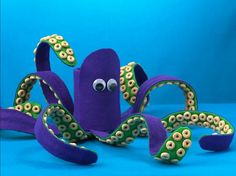 Great decoration idea! This creative and colorful octopus made using Cheerios® cereal is perfect for any table decoration.