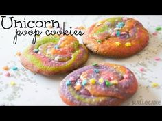 This is a step by step instructional video for making Unicorn Poop Cookies! To make these Unicorn Poop Cookies You Will Need: Cookie Mix Gel Food Dye: http:/. Cookie Desserts, Cookie Recipes, Dessert Recipes, Yummy Treats, Sweet Treats, Yummy Food, Tasty, Unicorn Poop Cookies, Unicorn Cupcakes