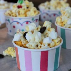S'more Drizzled Popcorn Cups