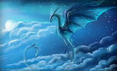 Ania, goddess of light and incarnation of the Mother, in her majestic air dragon shape. Mythical Creatures Art, Mythological Creatures, Magical Creatures, Fantasy Creatures, Fantasy Dragon, Fantasy Art, Types Of Dragons, Mythical Dragons, Dragon Artwork