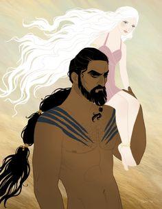 Drogo and Daenerys. <3