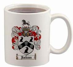 $15.99 Jackson Coat of Arms Mug / Family Crest 11 ounce cup