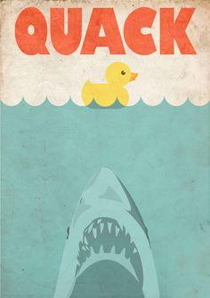 Jaws Rubber Duck Art Print by janehazlewood Rubber Ducky Bathroom, Duck Bathroom, Bathroom Kids, Ocean Bathroom, Kids Bath, Bathroom Wall, Bathrooms, Danbo, Miss Piggy