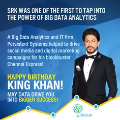 SRK was one of the first to tap into the power of Big Data Analytics: