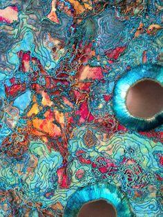 Sue Hotchkis Fibre Artist stitched abstract art #abstractart