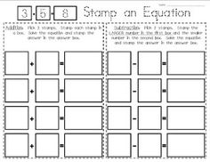 "Mrs. Gilchrist's Class: First Day of School Deskmat and ""Stamp an Equation"" Freebies"