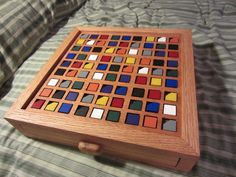 Color-Based Wooden Sudoku Board: 6 Steps (with Pictures) Wood Shop Projects, Cnc Projects, Woodworking Projects, Wood Crafts, Diy And Crafts, Diy Wood, Wood Games, Ring Toss, Diy Games