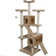 Beige 73' Pet Cat Tree Tower Kitty Toy House Scratch Post Condo ** Click image for more details. (This is an affiliate link and I receive a commission for the sales) #CatCare