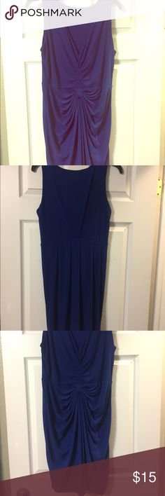 """BCBG Size Medium Royal Blue Short Dress US size medium BCBG royal blue dress for sale! Only worn twice and I'm excellent condition. It is 95% polyester/5% elestane. It hits just above the knee - approximately 36"""" from the top to the bottom. BCBG Dresses"""