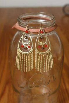 NEW WEB ARRIVAL!!  Teardrop Tassel Earrings, $16.50  Purchase here > http://www.shoppage6.com/products/teardrop-tassel-earrings