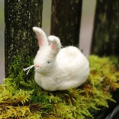 Felted Easter bunny by Bossy's Feltworks