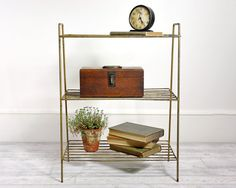 Your place to buy and sell all things handmade Wire Shelving, Shelves, Garden Rack, Wire Table, Storing Books, Old Things, Mid Century, Apartment Ideas, Cool Stuff