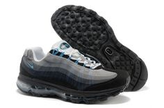 8b40126f021 Mens Nike Air Max 95 360 Black Grey White Shoes