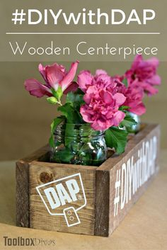 Make a centerpiece in a snap with this great super simple centerpiece for your holiday table. - ToolBox Divas. DIY Wooden Centerpiece Box via @Toolboxdivas #DIY #box #wooden