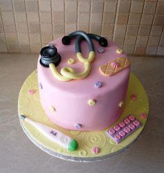 Doctor cake - Cake by Dora Avramioti Doctor Birthday Cake, Makeup Birthday Cakes, Doctor Cake, Doctor Party, Cake Birthday, Girl Birthday, Happy Birthday, Cakes Without Fondant, Fondant Cakes