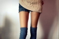 To look cute in over-the-knee socks.