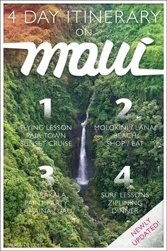 Though most visitors only stay on our island for their Maui vacation, some like to island-hop and experience more than one place. We thought we'd share our recommendations since it might help others planning 4 days on Maui. #maui #hawaii #vacation #paradise #islandlife #mauiactivities Hawaii Vacation, Maui Hawaii, Hawaii Travel, Maui Activities, Flying Lessons, Hawaiian Islands, Lanai, Island Life, Helping Others