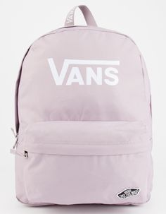 Vans Sporty Ream Backpack. Zip front organizer pocket with Vans patch. Zip main compartment with large Vans detail. Adjustable padded shoulder straps. 22L. Approx dimensions: 16.75L x 12.75W x 4.75D. 100% polyester. Imported.