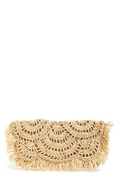 Mar+y+Sol++'Giselle'+Woven+Clutch+available+at+#Nordstrom