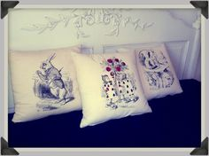 Items similar to SALE : Buy three of your favourite screenprinted cushions for a reduced price. Alice in wonderland and/or Nautical cushions on Etsy