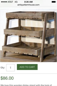 Fruit crate stand