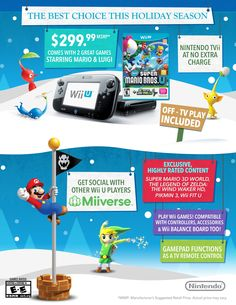 Nintendo States Its Wii U Case With a Holiday Infographic