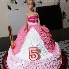 Barbie Birthday Cake, Barbie Cake, Birthday Cakes, Izu, Cukor, Food, Erika, Food Cakes, Caramel