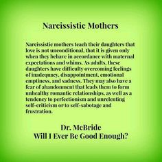 Narcissistic Mother's