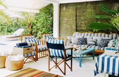 Blue and white stripes will forever be in style!