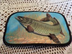 Fish Fishing Wildlife Patch Applique Crest Raised finish by LouisandRileys on…