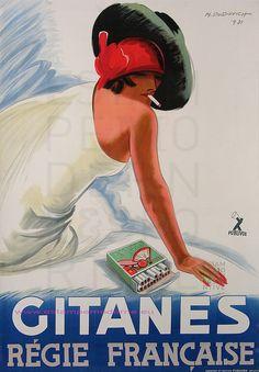 M.DUDOVICH 1931 CIGARETTES GITANES 90X127 PUBLIVOX by estampemoderne, via Flickr