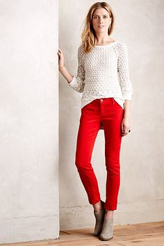 red corduroy pants from anthropologie