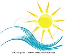 Image detail for -Clipart Summer Sun And Ocean Wave 1 Royalty Free Vector Nature