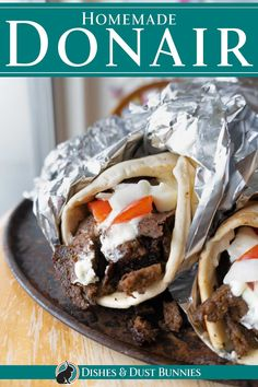 """How to make The Famous Atlantic Canadian """"Halifax Donair"""" - Dishes & Dust Bunnies Cookbook Recipes, Meat Recipes, Cooking Recipes, Casserole Recipes, Recipies, Beef Dishes, Food Dishes, Main Dishes, Donair Meat Recipe"""