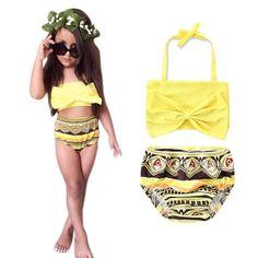 Beautiful and Fashional Infant Baby Girl Bow Swimsuit Swimwear Bathing Suit Bikini Set Clothes Outfits roupas #Affiliate