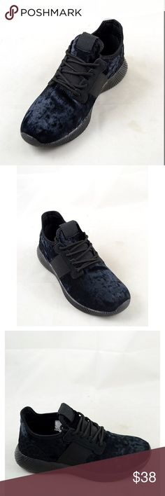 Crushed Velvet Sneakers Fabulous active wear crushed velvet sneakers. Color black. Threads & Trends Shoes Sneakers