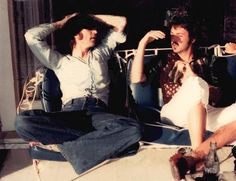 This last known photo of John Lennon and Paul McCartney together was taken by John Lennon's girlfirend May Pang at the Louis B. Meyer/Peter Lawford Santa Monica house Lennon was renting around March 1974.