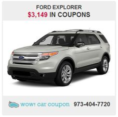 Check out this #Family Friendly #Ford Explorer!! http://www.wowcarcoupon.com/wow/products/coupon_v5.asp?productID=52469970