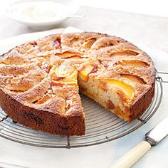 Summer Peach Cake Recipe - America's Test Kitchen. note: may require login, or, try accessing the print version at: http://www.americastestkitchen.com/recipes/print.php?docid=29695 (no pictures or test notes on the print version, though.)